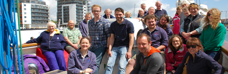 OYT South team before sailing to Cowes for Prolific's Commissioning Dinner