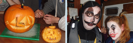 One picture is a pair of pumpkins, the other a pair of sea staff - can you spot the difference?