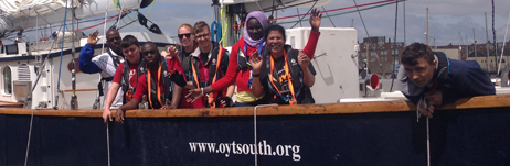 Ambition, Aspire, Achieve - on board Prolific in Shoreham!