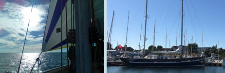 Mizzen staysail ... and a lovely berth in Rødvig