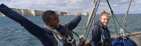 Air cadets at sea