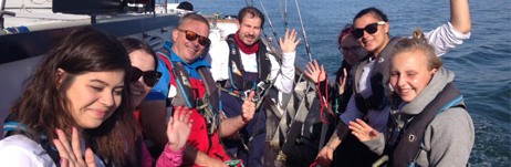 Sailing with the Ellen MacArthur Cancer Trust!