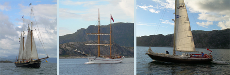 Friends and fellow competitors in the Tall Ships series