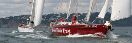 John Laing in the June ASTO race - hope she'll still be in front during the Tall Ships race! (photo:www.tallshipstock.com)