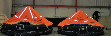 Ever wondered what our liferafts look like when inflated?