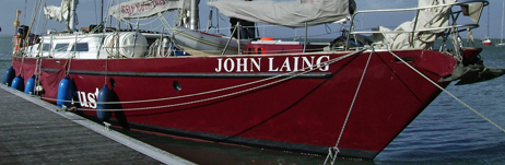 John Laing at sea