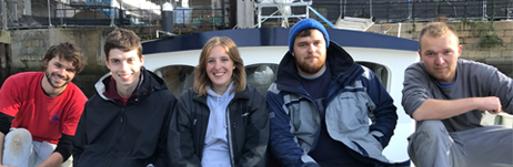 Josh and the refit team: Matt, Sophie, Tom, Louis