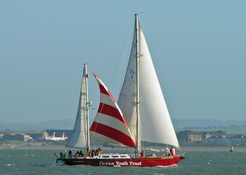 John Laing competing in the 2006 Solent Race